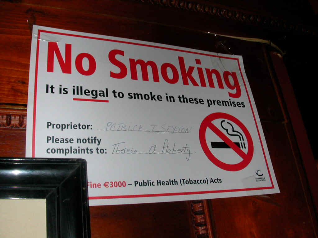 Smoking laws in ireland